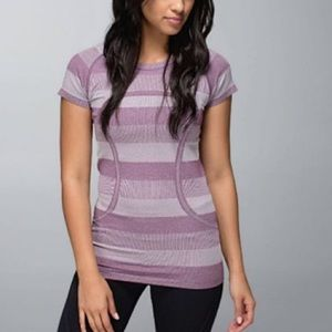 Lululemon Swiftly Tech Short Sleeve Top Stripe 4